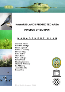 Hawar Island Protected Area - Management Plan