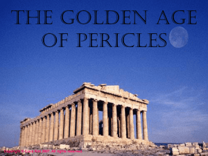 The Golden Age of Pericles