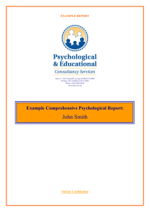 PECS Example Adult Learning Disorder Report