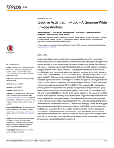 Creative Activities in Music – A Genome