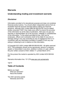 Understanding trading and investment warrants