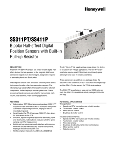 SS311PT|SS411P Bipolar Hall-Effect Digital Position Sensors with