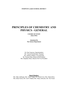 Principles of Chemistry and Physics