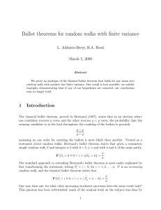 Ballot theorems for random walks with finite variance
