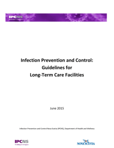 Infection Prevention and Control: Guidelines for Long