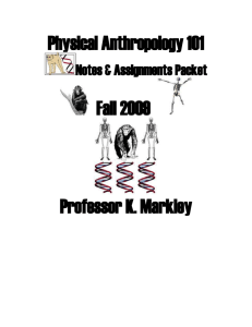 Physical Anthropology 101 - Fullerton College Staff Web Pages