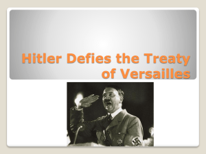 Hitler Defies the Treaty of Versailles