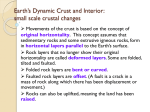 Earth`s Dynamic Crust and Interior: small scale crustal changes