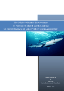 The Offshore Marine Environment of Ascension Island