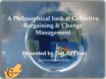 A Philosophical look at Collective Bargaining