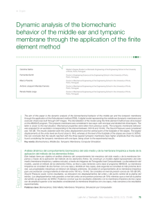 Dynamic analysis of the biomechanic behavior of the middle ear and