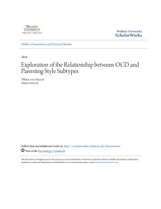 Exploration of the Relationship between OCD and Parenting Style