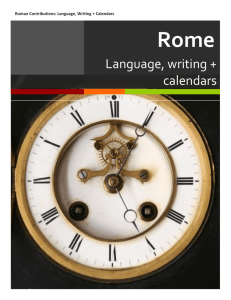 Language, writing + calendars