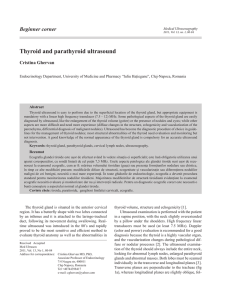 Thyroid and parathyroid ultrasound