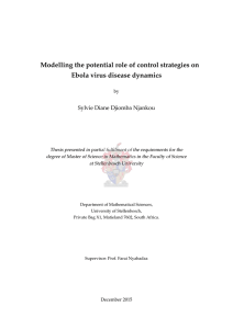 Modelling the potential role of control strategies on Ebola virus