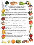 the AICR Guidelines for Cancer Prevention