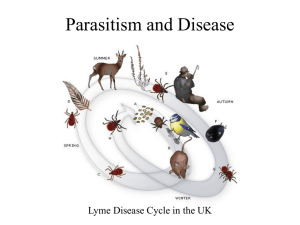 Parasitism and Disease - Powerpoint for Oct. 26.