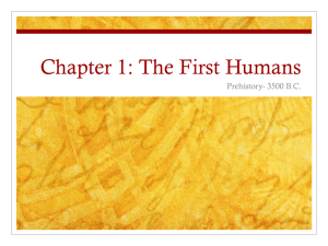 Chapter 1: The First Humans