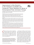 Improvement in Skin Elasticity in the Treatment of Cellulite