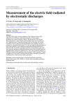 Measurement of the electric field radiated by electrostatic discharges