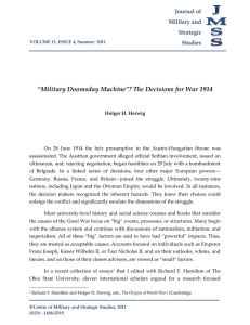 Print this article - Journal of Military and Strategic Studies