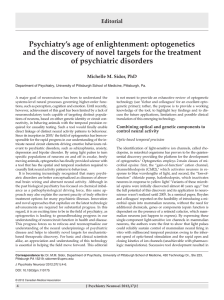 Psychiatry`s age of enlightenment