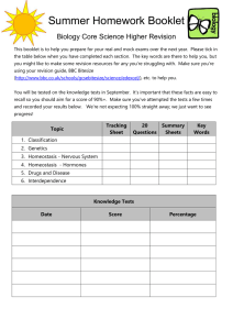 Core homework booklet higher