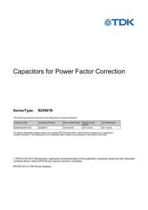 Capacitors for Power Factor Correction