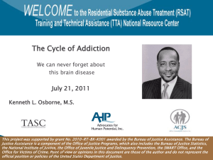 """The Cycle of Addiction,"" Kenneth L. Osborne, M.S."