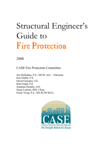 Structural Engineer`s Guide to Fire Protection