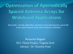 Optimization of Aperiodically Spaced Antenna Arrays for Wideband