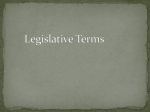 Legislative Terms Notes