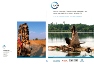 Vital but vulnerable: Climate change vulnerability and human use of