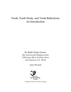 Torah, Torah Study, and Torah Reflections: An Introduction