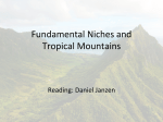 Fundamental Niches and Tropical Mountains