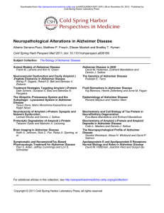 Neuropathological Alterations in Alzheimer Disease