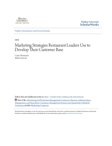 Marketing Strategies Restaurant Leaders Use to Develop Their