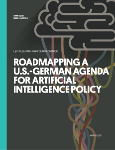 roadmapping a us-german agenda for artificial intelligence policy