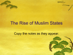 The Rise of Muslim States PowerPoint Notes