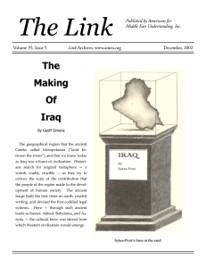 The Making Of Iraq - Americans for Middle East Understanding