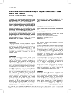 Intentional low-molecular-weight heparin overdose: a case report