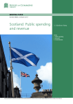 Scotland: Public spending and revenue