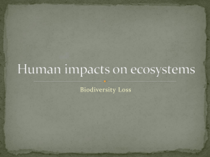 Human impacts on ecosystems