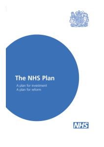 The NHS Plan