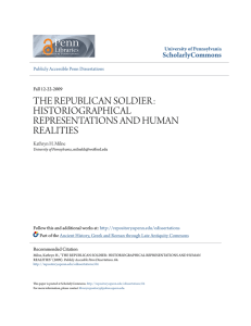 the republican soldier: historiographical representations and human