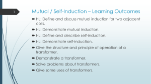 Mutual / Self-Induction * Learning Outcomes