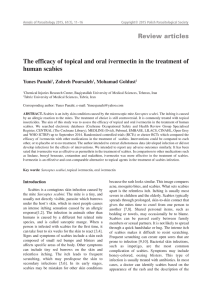The efficacy of topical and oral ivermectin