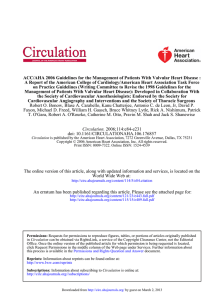ACC/AHA 2006 Guidelines for the Management of Patients with