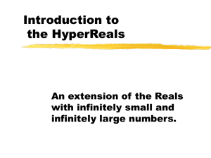 Introduction to HyperReals