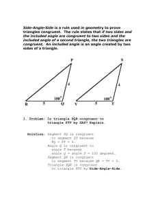 Side-Angle-Side is a rule used in geometry to prove triangles